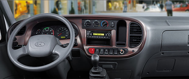 Nội thất xe ben Hyundai HD88