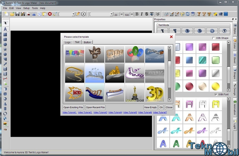Aurora 3D Text Logo Maker v16.0107 Full İndir