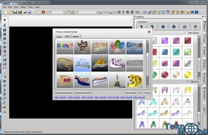 Aurora 3D Text Logo Maker v16.0107 Full İndir