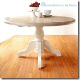 Breakfast table makeover with Driftwood effect