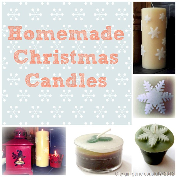 homemade christmas candles