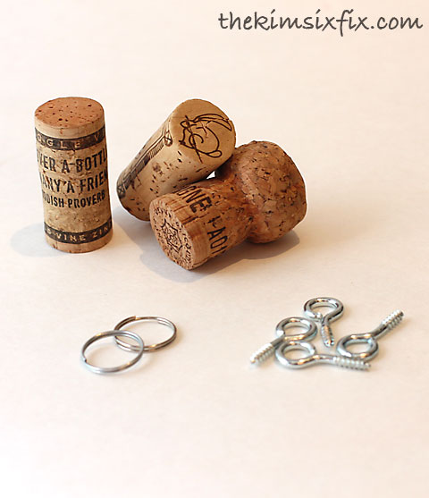 Cork key chain supplies
