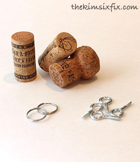 cork key chain. Black Bedroom Furniture Sets. Home Design Ideas