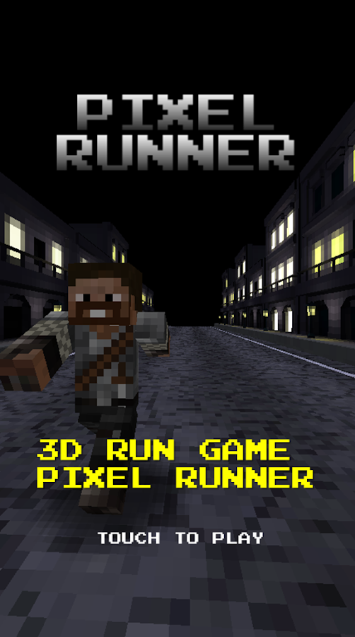 Pixel Runner -  Black city - screenshot