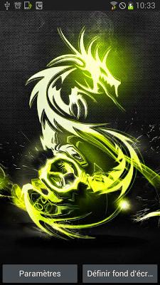 Carbon Tribal Dragon Animated - screenshot