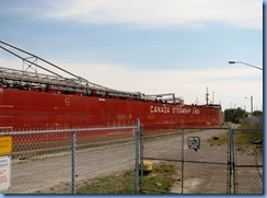 8458 Thorold -  Welland Canals Parkway - Thunder Bay lake freighter leaving Lock 6