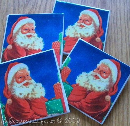 santa claus napkins for decoupage