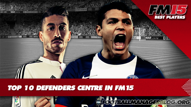 Top 10 Defenders Centre in Football Manager 2015