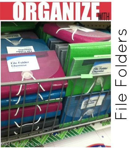 Dollar Store File Organizer