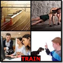TRAIN- 4 Pics 1 Word Answers 3 Letters