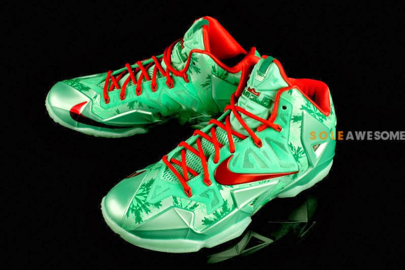 a231ca592140cb ... First Look at Men8217s Nike LeBron XI Christmas 616175301 ...