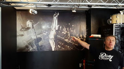 New front counter artwork at BackStage Hotel Amsterdam by our friend and