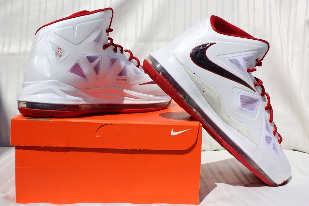 quality design 71713 7e11e ... PE Spotlight Nike LeBron X Miami Heat 8220Red Bottom8221 Home PEs ...