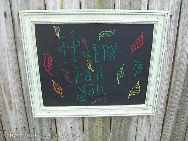 easy shabby chalkboard MyRepurposedLife.com