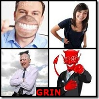 GRIN- 4 Pics 1 Word Answers 3 Letters