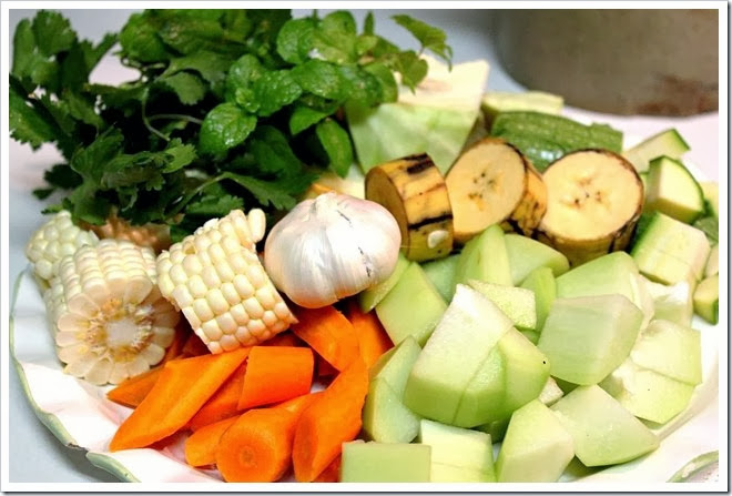 caldo de res, traditional mexican beef soup with vegetables.