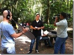 O repórter Paulo Mário no campus da PUC Rio