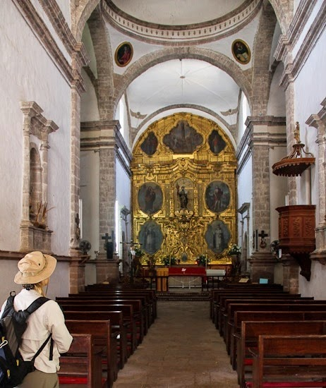 San Ignacio Church Inside