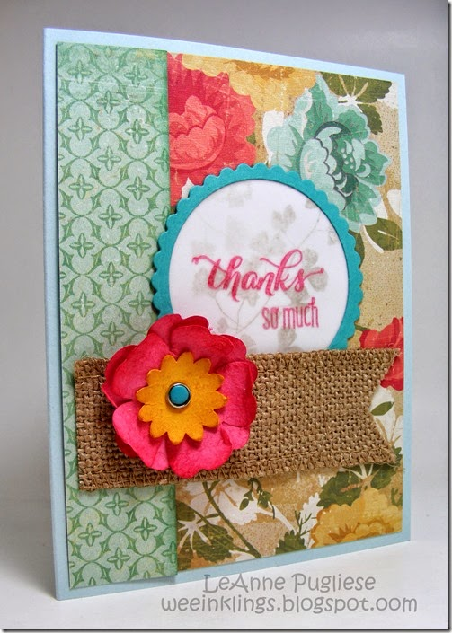 LeAnne Pugliese Thank You Vellum Card Stampin Up