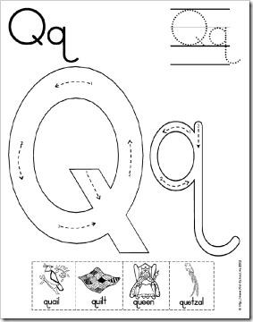 Preschool Alphabet: Q Mini Book