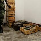 Caisses des explosifs et des minutions gardés dans un dépôt d'armes à Kinshasa. Radio Okapi/ Ph. John Bompengo