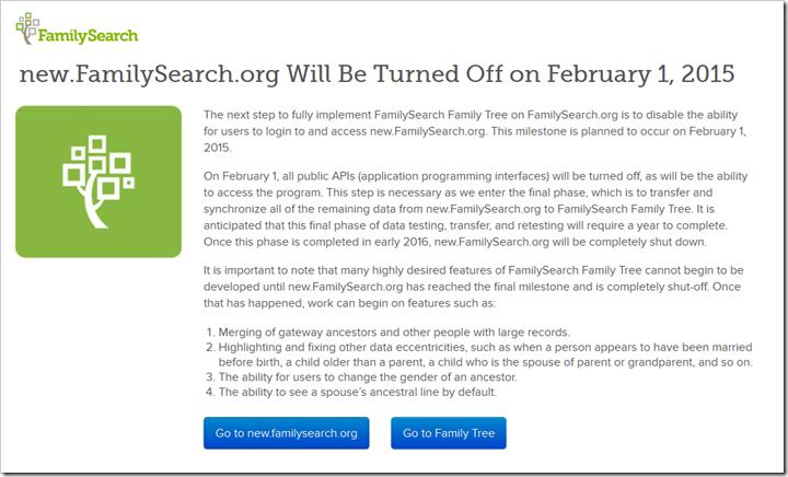 new.familysearch.org上的消息