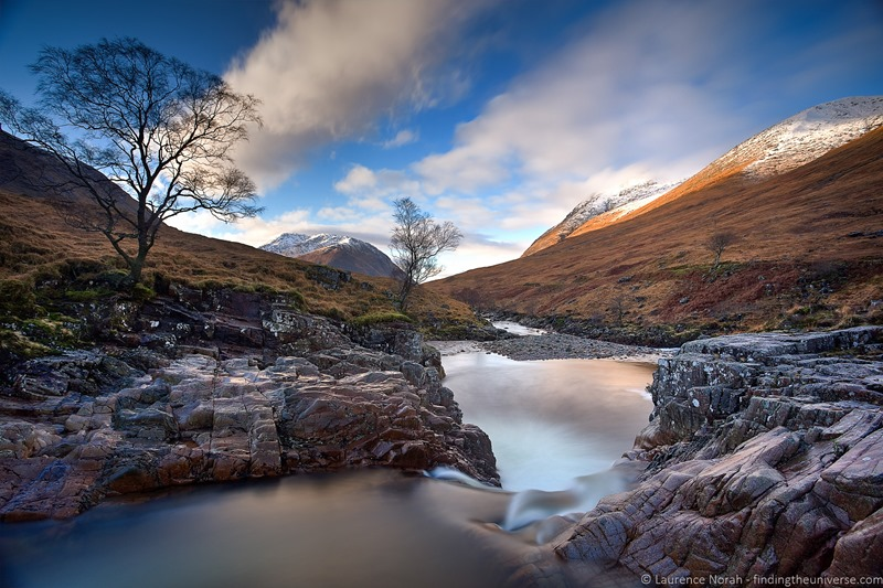 waterfall valley view Scotland highlands glencoe - scaled