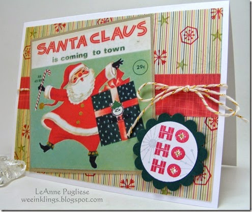 LeAnne Pugliese WeeInklings Merry Monday 150 Vintage Santa Record