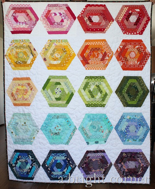 A Bright Corner: Hexing Around Quilt