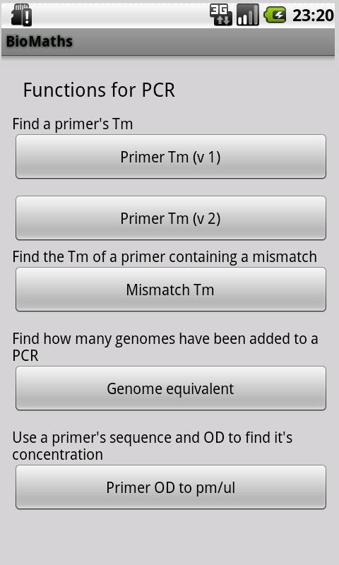 BioMaths- screenshot