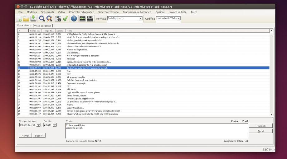 Subtitle Edit il miglior editor di sottotitoli per Linux