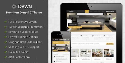 Creative Drupal Themes | Creative Drupal Templates: Dawn