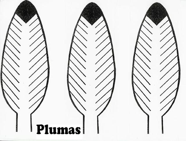Dibujos Para Colorear Plumas