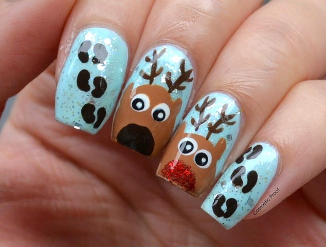 Nail Art Rudolph The Red Nosed Reindeer Cosmetic Proof