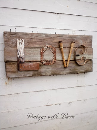 Upcycled Letters - Junky LOVE Sign