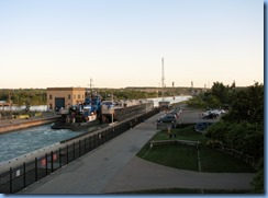 8005 St. Catharines - Welland Canals Centre at Lock 3 - Viewing Platform - Tug SPARTAN with barge SPARTAN II (a 407′ long tank barge) upbound