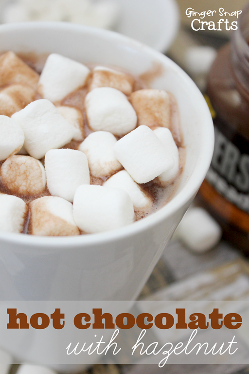 easy hot chocolate with hazelnut from GingerSnapCrats.com