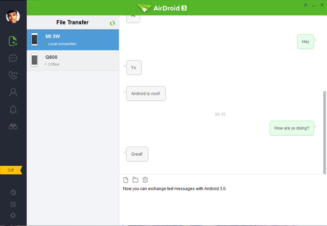Airdroid Desktop Text Messaging