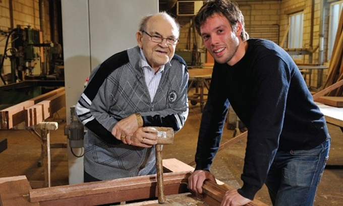 Jef and his grandfather