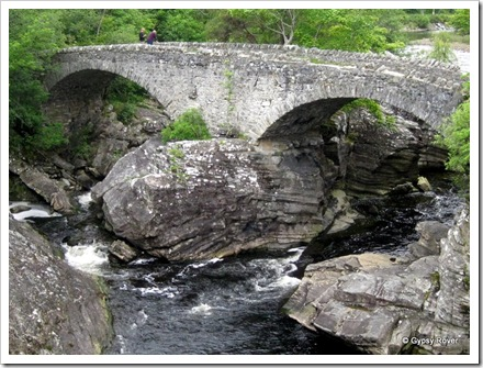Thomas Telford's old bridge at Invermoriston. Completed in 1813 as a military road between Fort Augustus and Inverness.