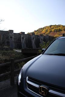 CR-Vと豊稔池ダム