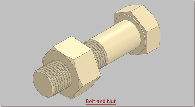 Bolt and Nut (Video Tutorial) SolidWorks 2014