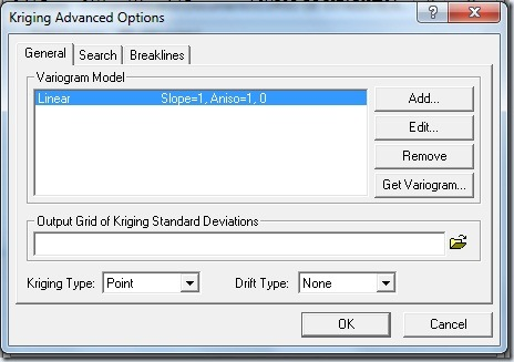 F19- Kriging Advanced Options
