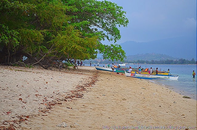 Boats drop-off and pick-up point @ Potipot Island