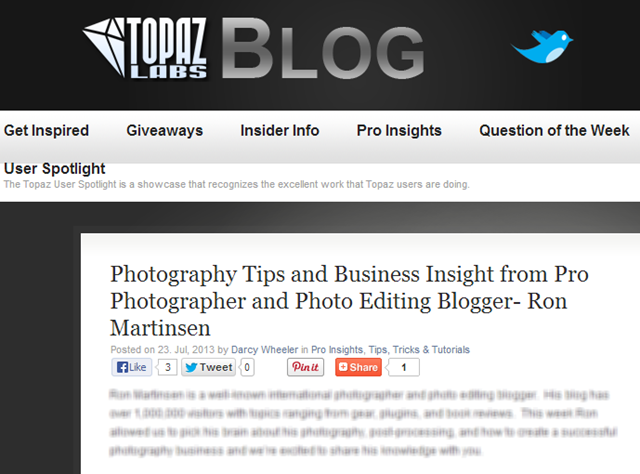 Click to see the Topaz Labs Ron Martinsen Interview