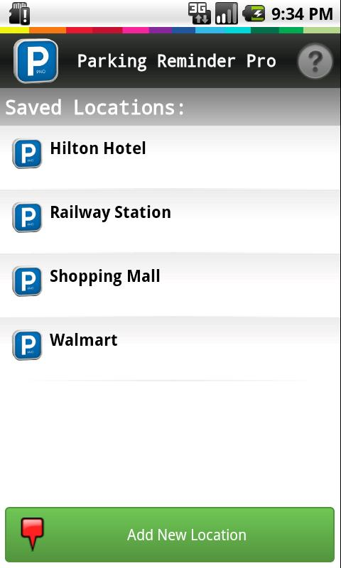Parking Reminder Free- screenshot