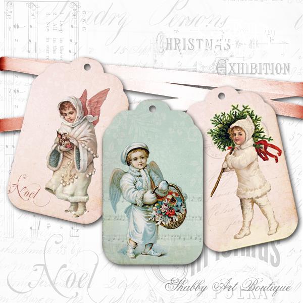 Shabby Art Boutique vintage tags 1