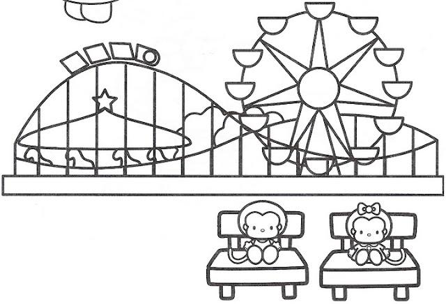 Laminas De Atracciones De Feria Para Pintar: DIBUJOS INFANTILES DE LA FERIA PARA COLOREAR