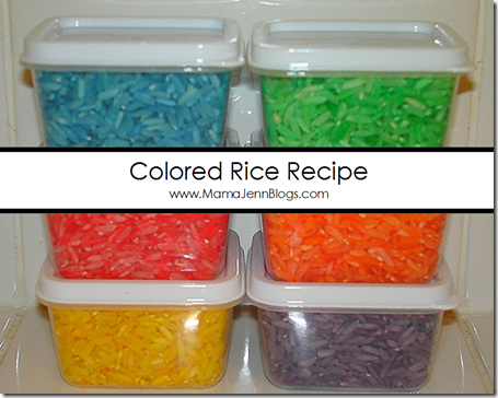 Colored Rice Recipe