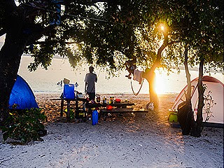 The Campsite...early morning @ Potipot Island_vibrant af